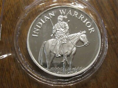 20 Indian Native American Warrior on Horse 1 OZ .999 Fine Silver Round Coin NEW