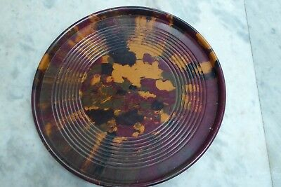 Huge Art Deco Bakelite Bar Drinks Serving Tray Mottled Speckled Tilley Plastics