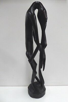 African Tribal Ebony Totem Statue Figure Carved Wooden