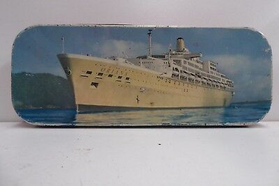 Vintage Ss Oriana Shipping Orient Liner Steam Ship Toffee Tin Griffiths Sweets