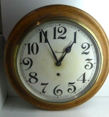 Antique Original Ansonia Station School House Oak Wall Clock Mcmasters Melbourne
