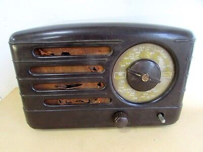 Vintage Awa Astor Bakelite Valve Radio Radiolette Original As Found