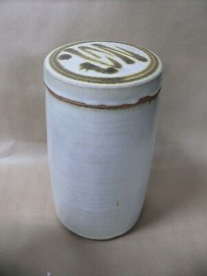 Studio Ceramic Australian Pottery Canister Stamed To Base