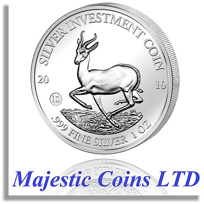 2010 Springbok Malawi African Wildlife 1 oz .999 Pure Silver Coin in Capsule