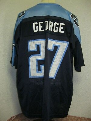 Ancien MAILLOT CHAMPION TITANS TENNESSEE #27 GEORGE NFL Football League Jersey