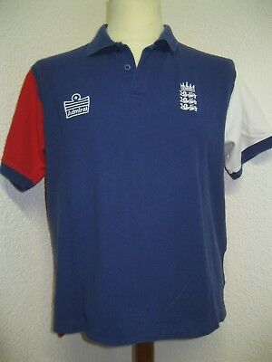 Ancien POLO ADMIRAL CRICKET ANGLETERRE ECB England and Wales Board Jersey Maglia