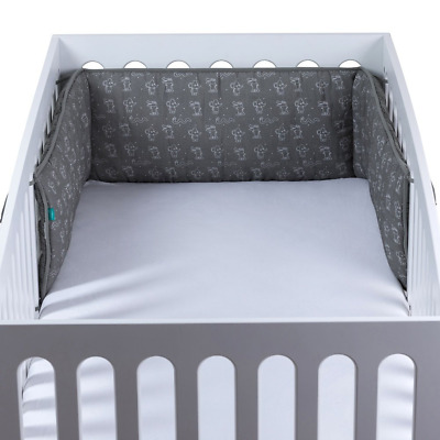 Urban Kanga Padded Cot Bed Bumper | Muslin Cotton | Suitable for Baby Crib...