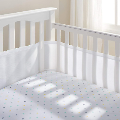 BreathableBaby 4 Sided Cot Mesh Liner (White)