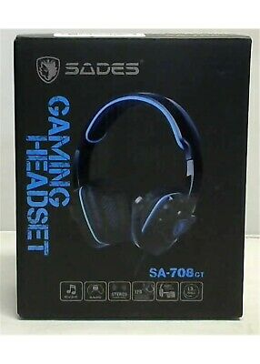 SADES SA-708 GT Surround Gaming Headset for PC PS4 Xbox One with Mic