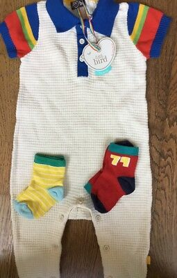 Little Bird By Jools Oliver 3-6 Mths All In One / Romper & 2 Pair Of Socks