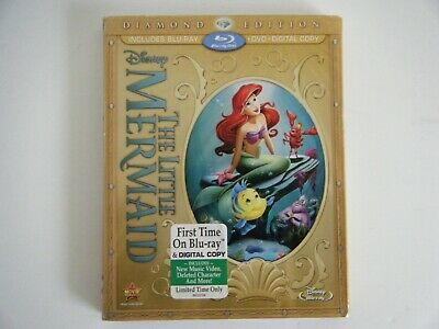 The Little Mermaid Diamond Edition Blu-ray Brand New with Slipcover