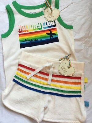 Little Bird By Jools Oliver Retro Towelling Shorts & Holiday Club Vest Top 18-24