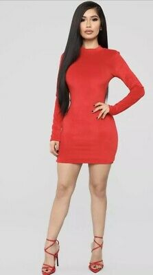 608a4af7423 FASHION NOVA RED Dress Size Small NEW -  12.00