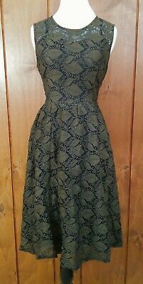 ffa0e45c3c9 Voodoo Vixen Sophia Dress Modcloth Expression of Elegance LARGE Olive Green  Lace