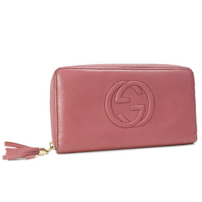 6085848514d2bd AUTH GUCCI SOHO Wallet 308280 Pink Leather - $292.00 | PicClick
