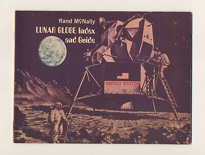 1969 LUNAR GLOBE INDEX AND GUIDE Rand McNally vintage space astronaut moon book