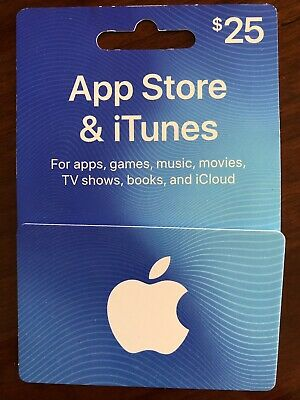$25 App Store iTunes Apple Gift Card FREE SHIPPING Regular Mail Only