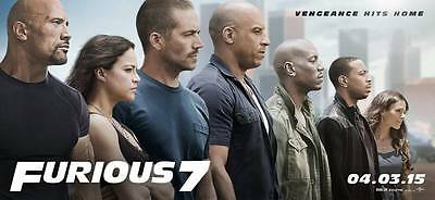 AFFICHES FAST AND FURIOUS 100x45 CM PAUL WALKER VIN DIESEL 2 3 4 5 6 7 AFFICHE 1