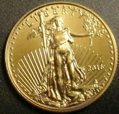 2016 American Gold Eagle 1/10th oz. Five dollar gold coin BU