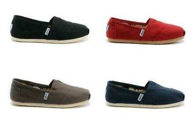 New Authentic Women's Toms Classic Slip On Flats Canvas Shoes US Size