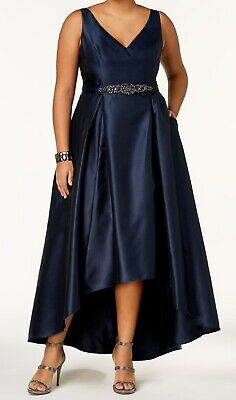 2aeacd1ab4 Adrianna Papell NEW Blue Womens Size 18W Plus Hi Low Gown Dress  259- 072