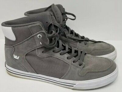 half off c369c 3ea31 SUPRA Vaider Charcoal White 08044-087 Skateboarding Shoes, Size 12