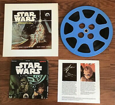 "Super 8mm Sound Film - Star Wars 10"" Reel 36 mins. Spliced Two 7"" Reels F48/F64"