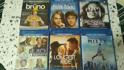BLU RAY/DVD/Digital HD Lot of 6 (All New and Sealed!!)