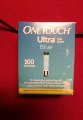 Unopened One Touch Ultra Blue 100 Ct Test Strips
