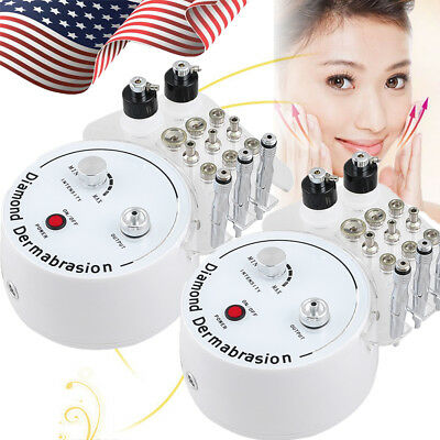 2X Mini Diamond Microdermabrasion Dermabrasion Peel Vacuum Spray Machine 110V US
