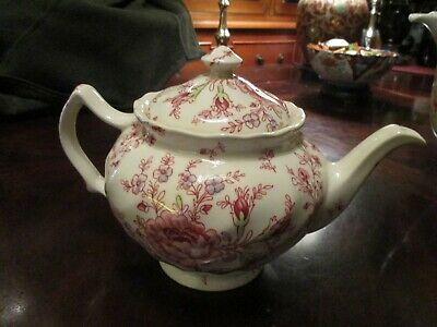 Johnson Bros Rose Chintz Teapot Excellent Condition Never Used
