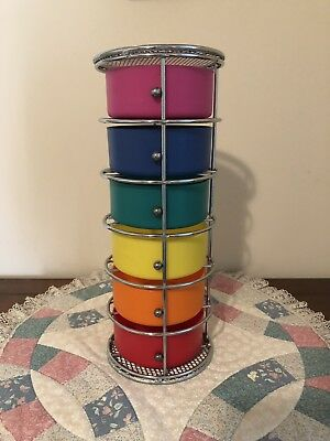 Colorful Storage Tower Caddy Organizer Multiple Drawers Scrapbooking