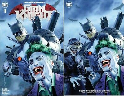 Batman Who Laughs Grim Knight #1 700 print run Mike Mayhew Variant Set PRESELL