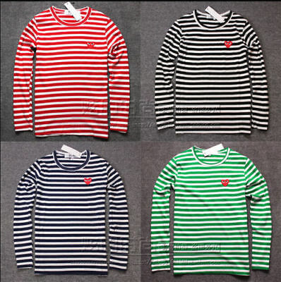b06af0b206415 ▷STRIPED MEN'S WOMEN Comme Des Garcons Cdg Play Red Heart Long ...
