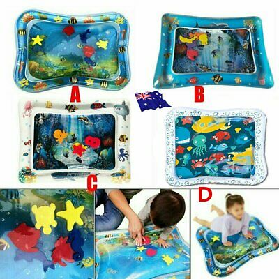 Baby Water Play Mat Inflatable For Infants Toddlers Fun Tummy Time Sea World UD