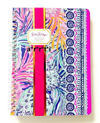 3c07e90aa7fea5 Lilly Pulitzer Mini Notebook Journal Lined Spiral Bound with Pocket Gypset  NWT