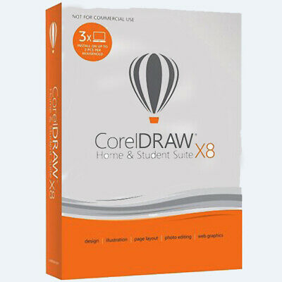 Corel CorelDRAW(R) X8 Home Student Graphic Design Suite, Traditional Disc