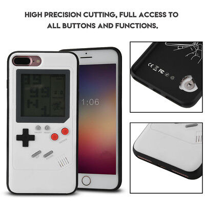 Retro Real Game Console Play Gameboy Tetris Phone Case for iPhone 7 Plus /8 Plus