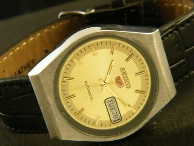 VINTAGE SEIKO 5 AUTOMATIC JAPAN MEN'S DAY/DATE WATCH 193a119459-1