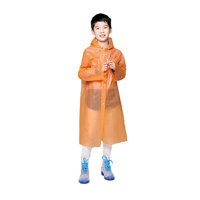 Disposable Portable Raincoats for Kids PEVA Travel Camping Children Rain X7D5