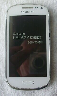 VERY GOOD COND White Samsung Galaxy Exhibit T599N 4G Metro Pcs Smart Phone