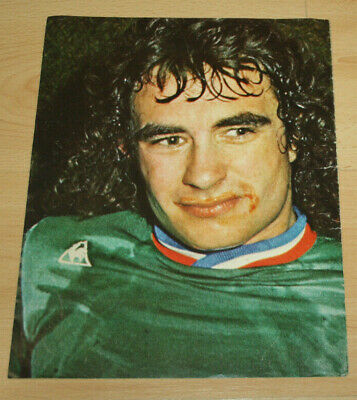 Poster  Rocheteau St Etienne Asse V Fc Bayern European Champions Cup Final 1976