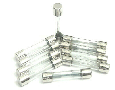 SET OF 10 EACH NEW F10 AL 250V F10AL250V 10A 5MM x 20MM FUSES