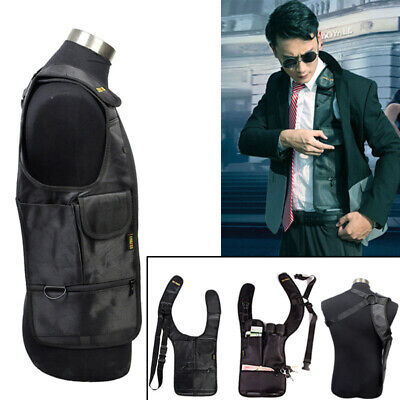 Tactical Anti-Theft Hidden Underarm Shoulder Bag Phone Holster Pouch Bag Black