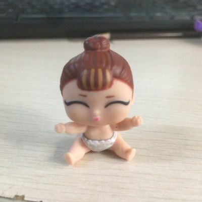 LOL Surprise Doll Series 2 Lil Sisters IT BABY Brown Hair Figure Toy Gift