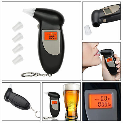 Digital LCD Alcohol Breath Analyzer Breathalyzer Tester Detector Test Key Chain