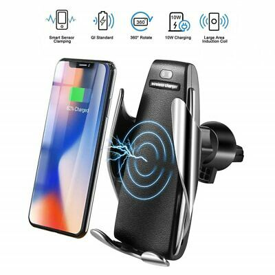 Fast Wireless Car Charger Automatic Infrared Sensor Clamping Air Vent Phone Hold