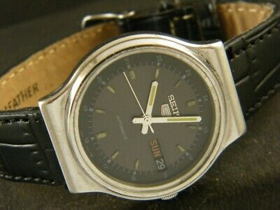 VINTAGE SEIKO 5 AUTOMATIC JAPAN MEN'S DAY/DATE WATCH 249b-a130527-1