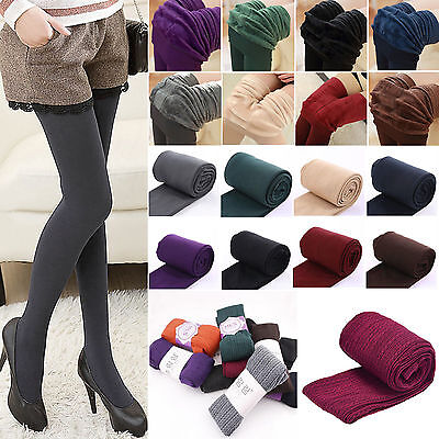 Womens Winter Warm Slim Stretch Pants Thick Fleece Stockings Pantyhose Tights
