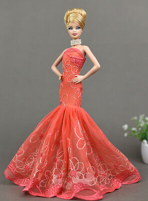 Fashion Ruffle Wedding Party Gown Mermaid Dresses Clothes For  Doll GiftBICA LL